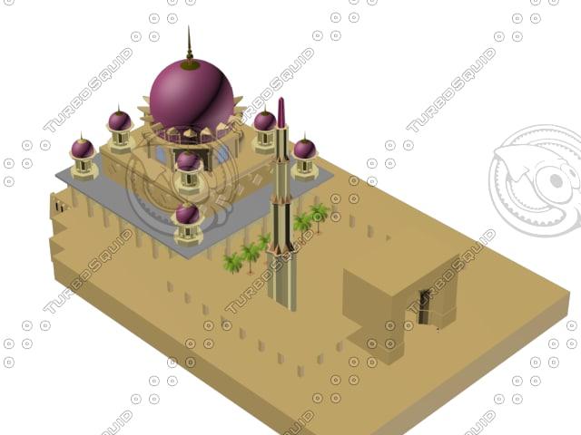 masjid putra 3d max