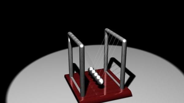 newtons cradle balance balls 3d max
