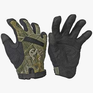 3d realtree ap gloves model