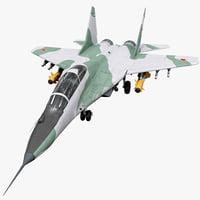 3d model russian fighter aircraft mig-29