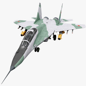 3d model russian fighter aircraft mig-29