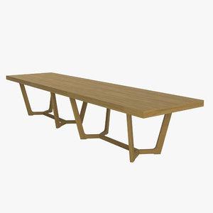 3d model table large