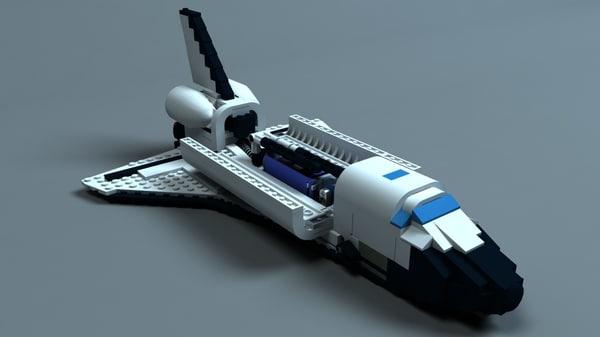 lego space shuttle bricks fbx