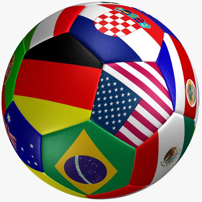 3d soccer ball flag