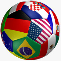 Soccer Ball country Flag