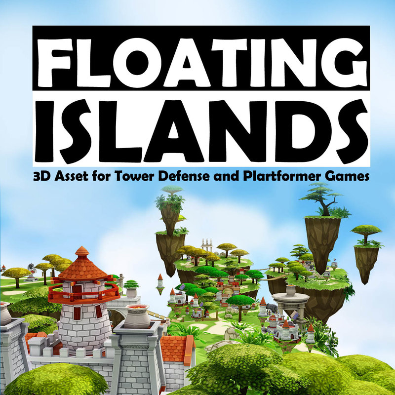 3d islands plants environment