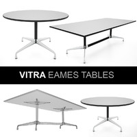 3d vitra eames tables