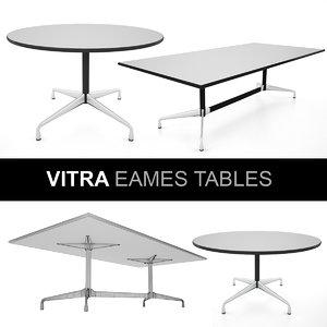 3d vitra eames tables