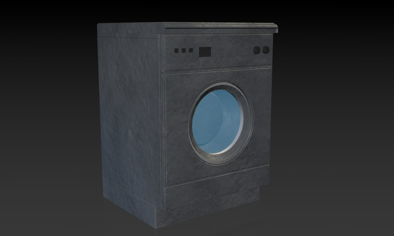 3d dark washing machine model