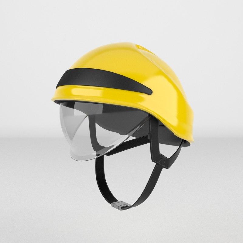 3d model of firefighter helmet