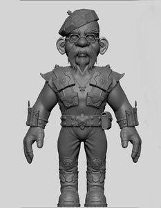 jamie hyneman gnome 3d obj