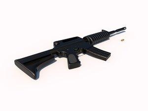 firearms rifle weapon 3d model
