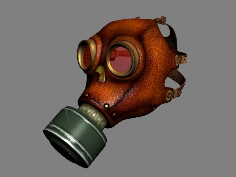 leather gas mask max