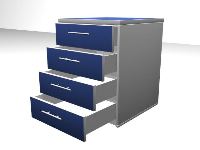 gaveteiro drawer 3ds