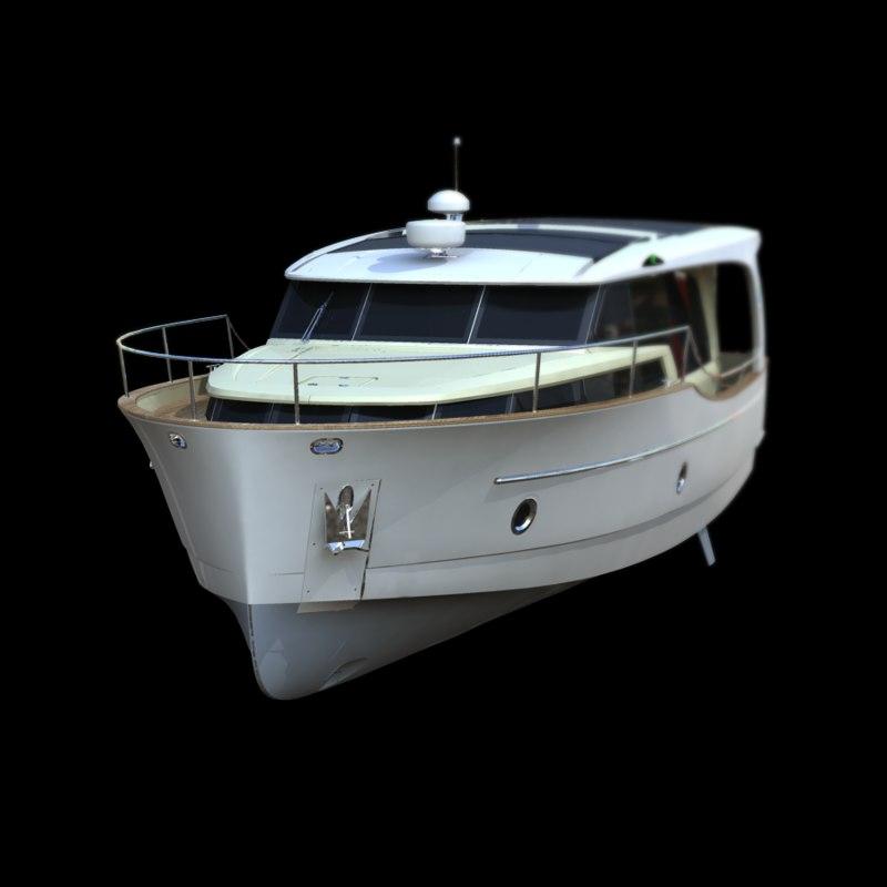 3d river lake boat