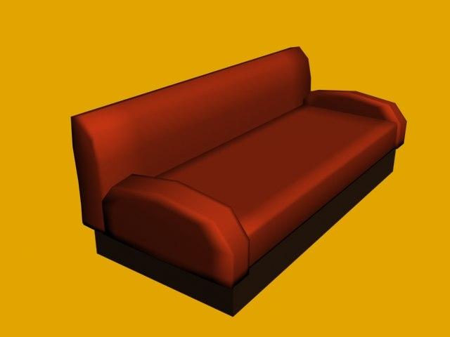 3d simple sofa model