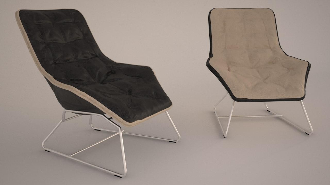 3d lounge chair maserati zanotta model