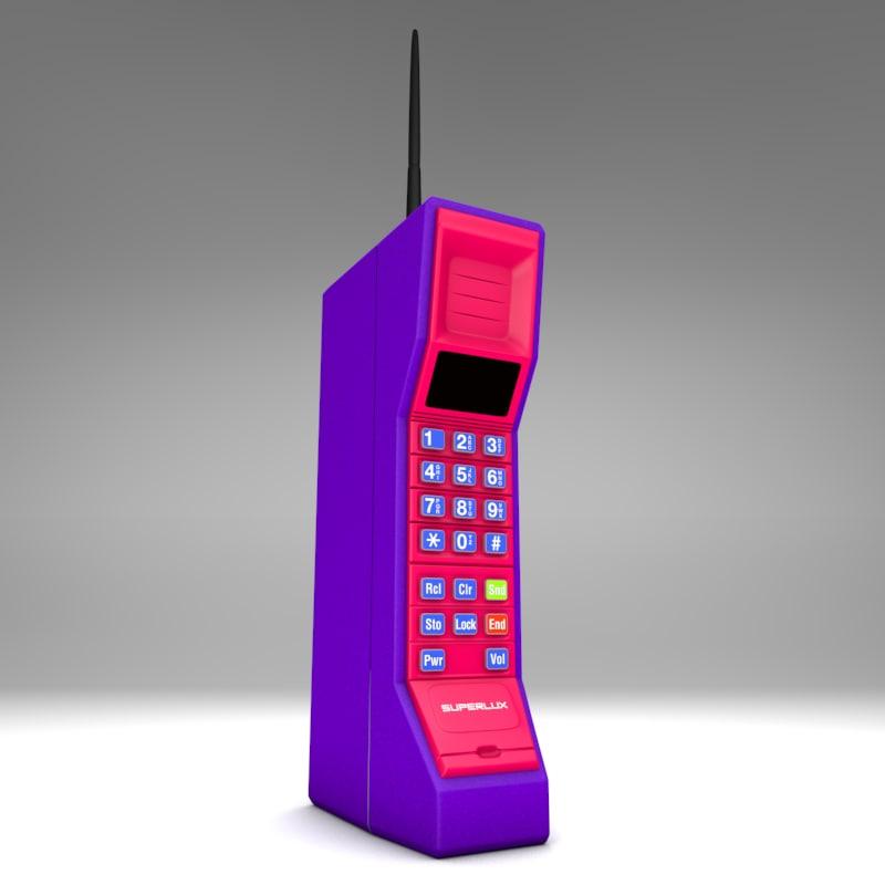phone brick cellphone 3d model