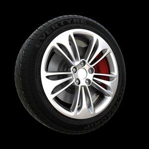 3d wheels model