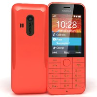 3d nokia 220 red model