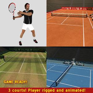 tennis games 3d model