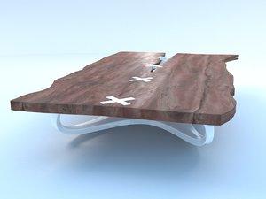 wood design table 3d model