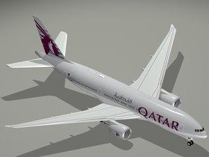 3d b 777-200 lr qatar model