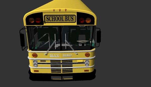 bluebird american school bus 3d 3ds