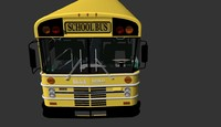 bluebird american school bus 3d 3ds