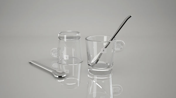 3d nespresso coffee glass