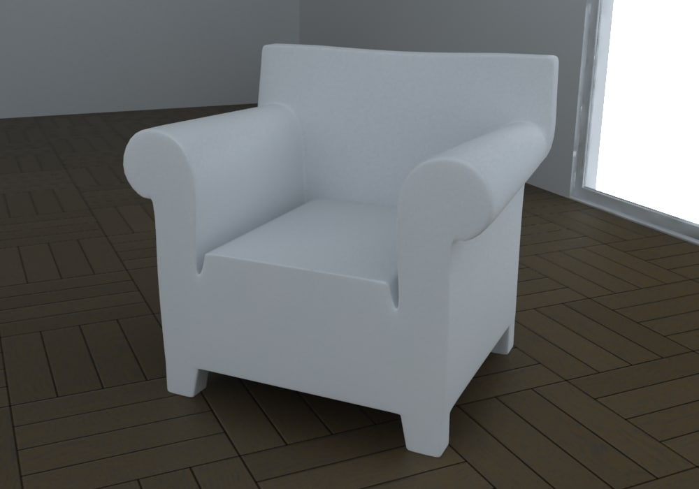 bubble club armchair 3d max
