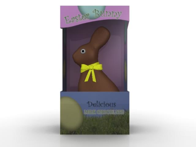 3ds max chocolate easter bunny