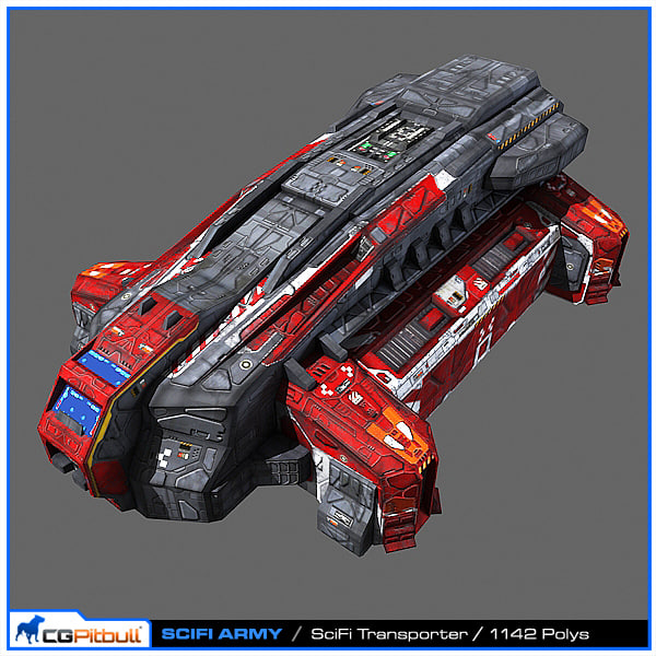 3d model scifi army human spaceships