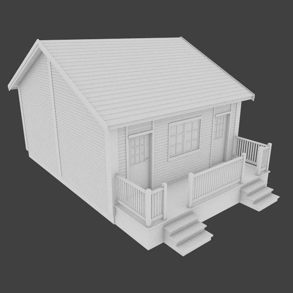 hotel admin building exterior 3d model