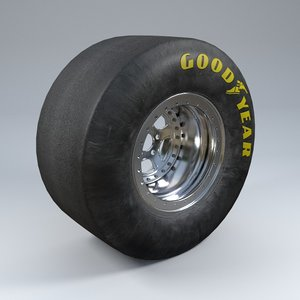 wheel car tire 3d model