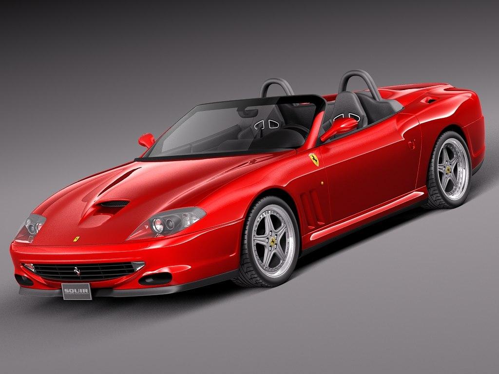 3d model of 2002 ferrari 550