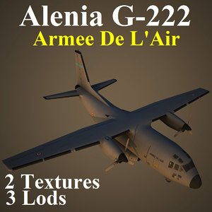 alenia ctm aircraft 3d model