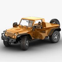 jeep wrangler moab pickup 3d model