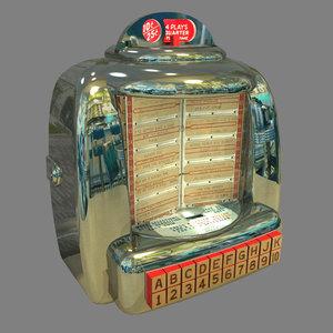 3d 50 s tabletop jukebox model