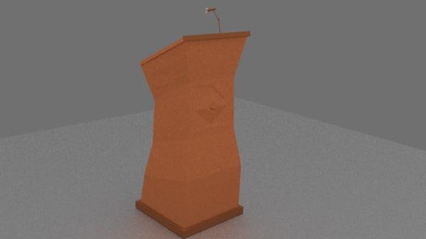 mic podium 3ds