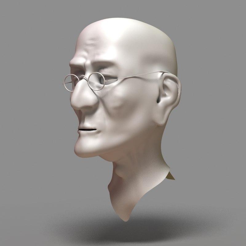 maya head old man