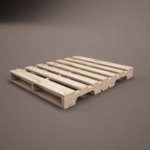 obj wooden pallet