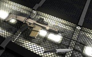 cinema4d assault rifle