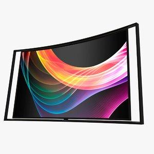 samsung oled tv 3d model