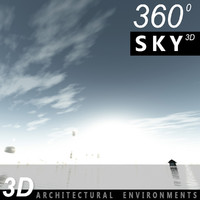 3d model of sky clouds