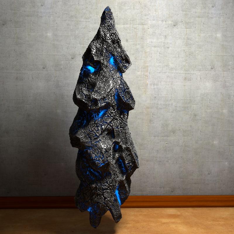 energy stone glowing 3d model