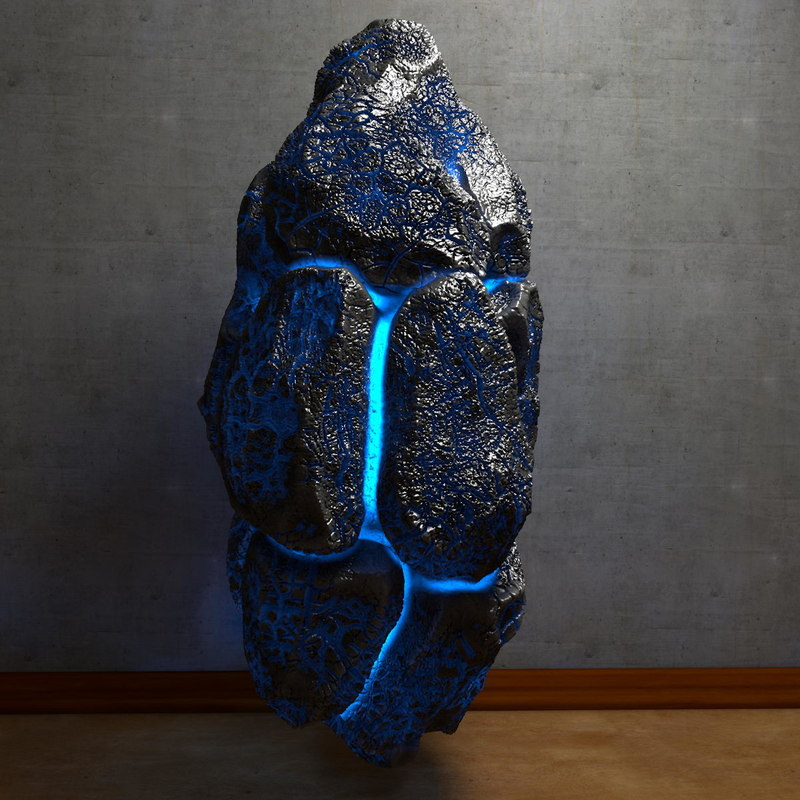 energy stone glowing obj
