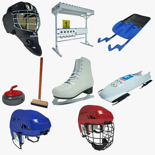 ice hockey 02 3d model