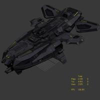 3ds max alien ship