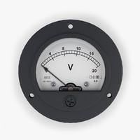 analog dc voltmeter 3ds
